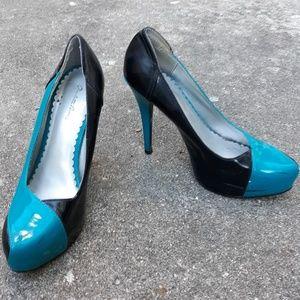 Black and Blue Charlotte Russe heels